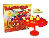 Little Treasures Balancing Stand Tic-Tac-Toe Topple Game a Fun Family Game, 2-4 Players