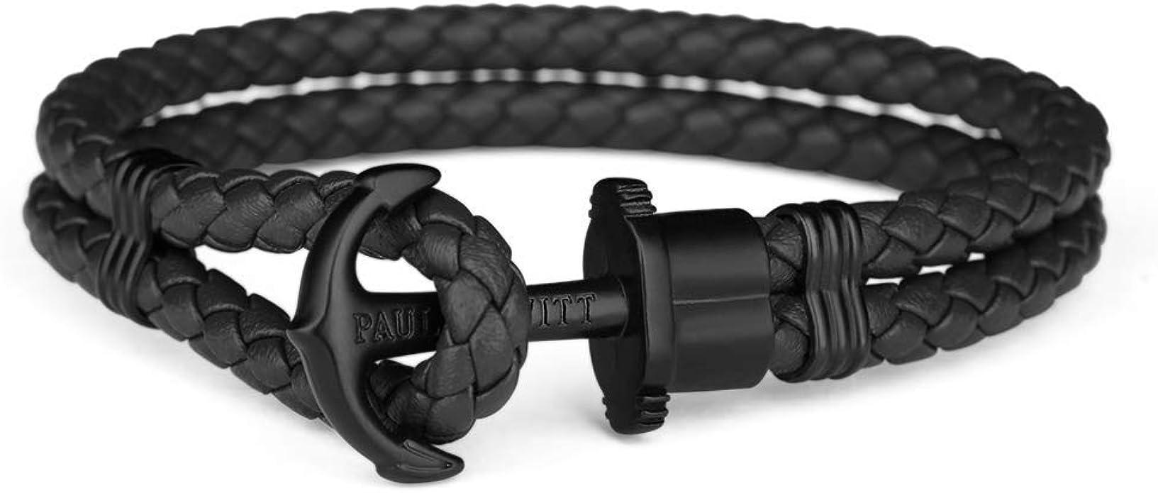 Bracelet Ancre Homme et Femme Corde Nylon Gris et Acier 316L Planetys