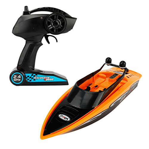 Electric R/c Boat - MonkeyJack Create Toys 3323 Remote Control Boat Mini RC Speedboat R/C Racing Toy Orange