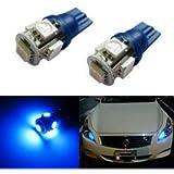 iJDMTOY 5-SMD 168 194 2825 T10 LED Parking Position Light Bulbs, Ultra Blue