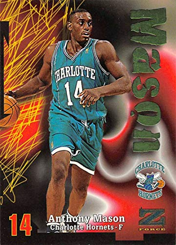 1997-98 Z-Force Basketball #14 Anthony Mason Charlotte Hornets Official NBA Trading Card From Fleer -