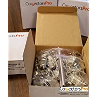 PC Accessories - Connectors Pro DB9 Metal Hood Back Shell DB-9 with Short Screws, 10-Pack for DB9 Male Female Connectors