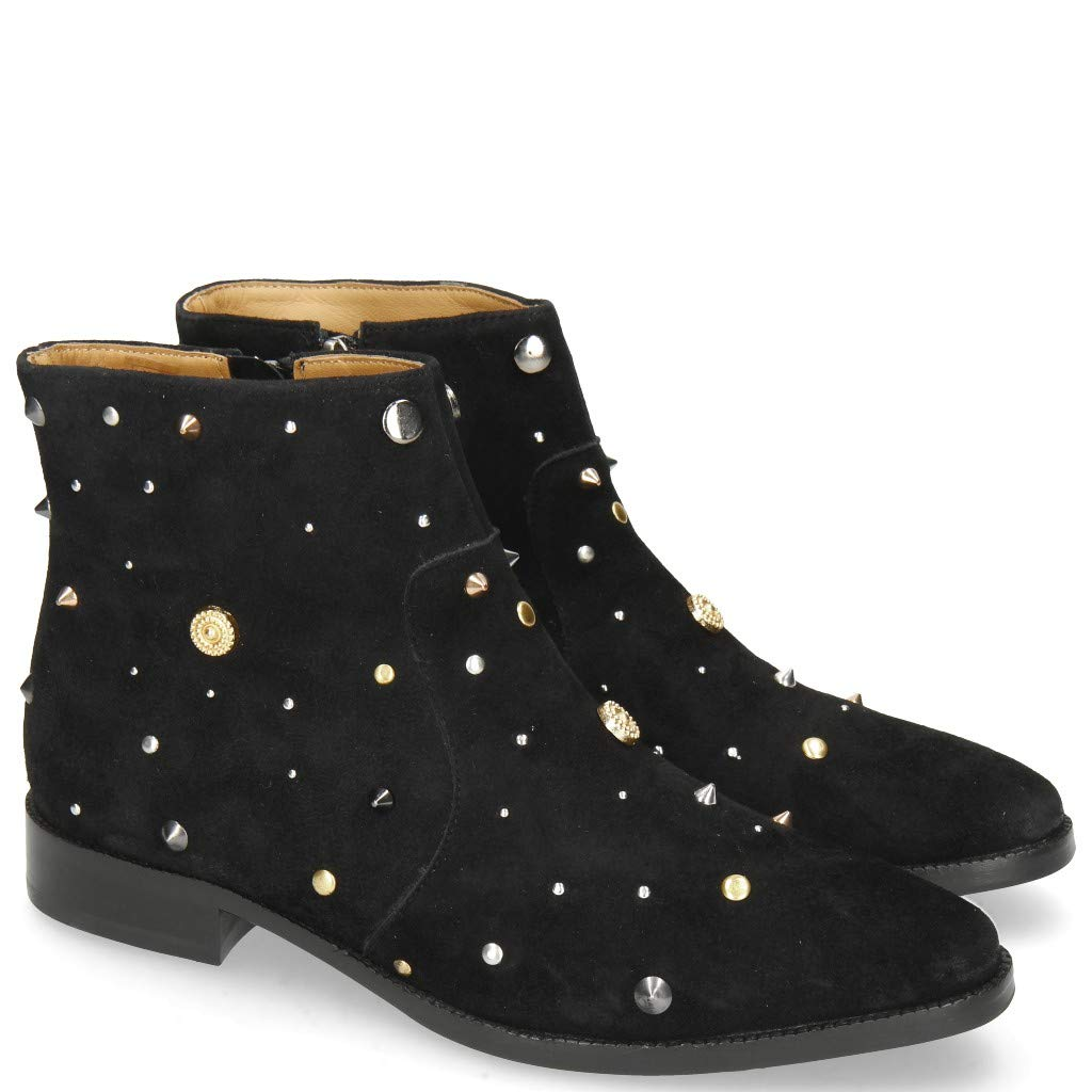 MELVIN & HAMILTON MH HAND MADE schuhe OF CLASS Candy 7 Oily Suede schwarz Rivets