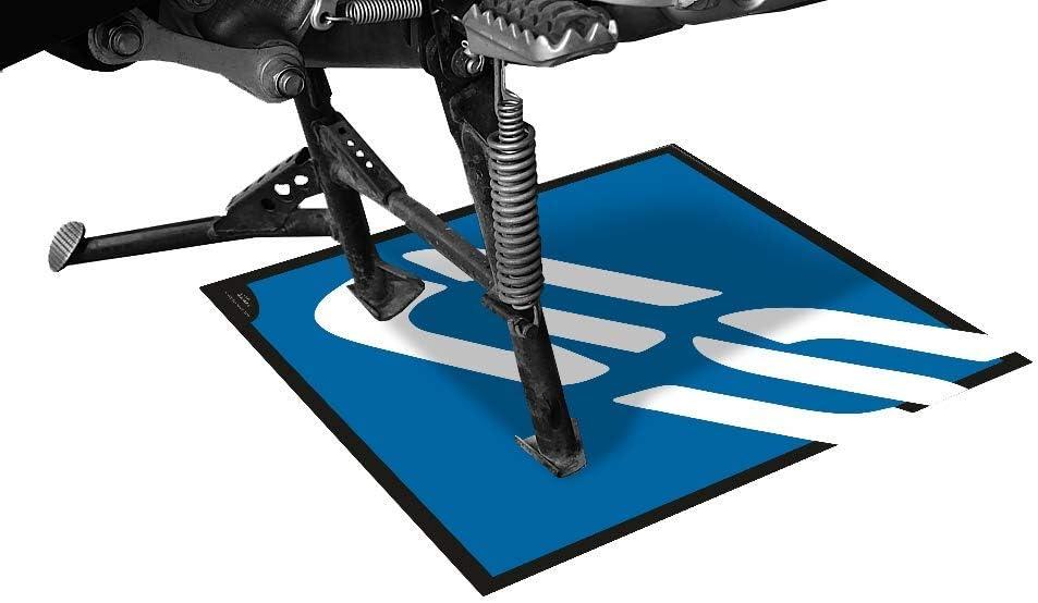 Tappeto In Gomma Antiscivolo Per Moto O Scooter Con Grafica Gs Bmw Da 44x44cm Blu