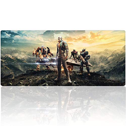 Beymemat Large Gaming Mouse Pad XXL Size (900x400mm) Extended Mouse Mat/Desk Pad with Non-Slip Rubber Base, Special-Textured Surface for Keyboard and Mouse (90x40 bengjiman)