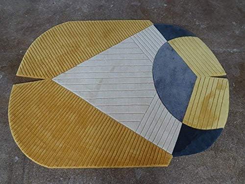 GO&FL - Alfombra Hecha a Mano con diseño geométrico Irregular ...