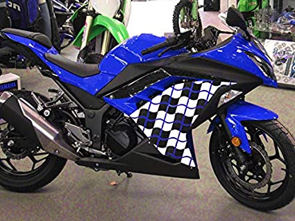 Moto Onfire ABS Injection Mold Bodywork Plastic Fairing Kits For 13 14 15 16 Kawasaki Ninja 300 EX300R ZX300R (2013-2016) Blue Black Racing