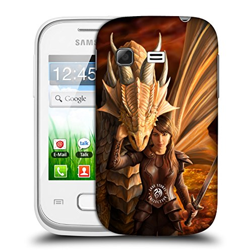 Official Anne Stokes Inner Strenght Dragons 2 Hard Back Case for Samsung Galaxy Pocket S5300 (Samsung Pocket S5300 compare prices)