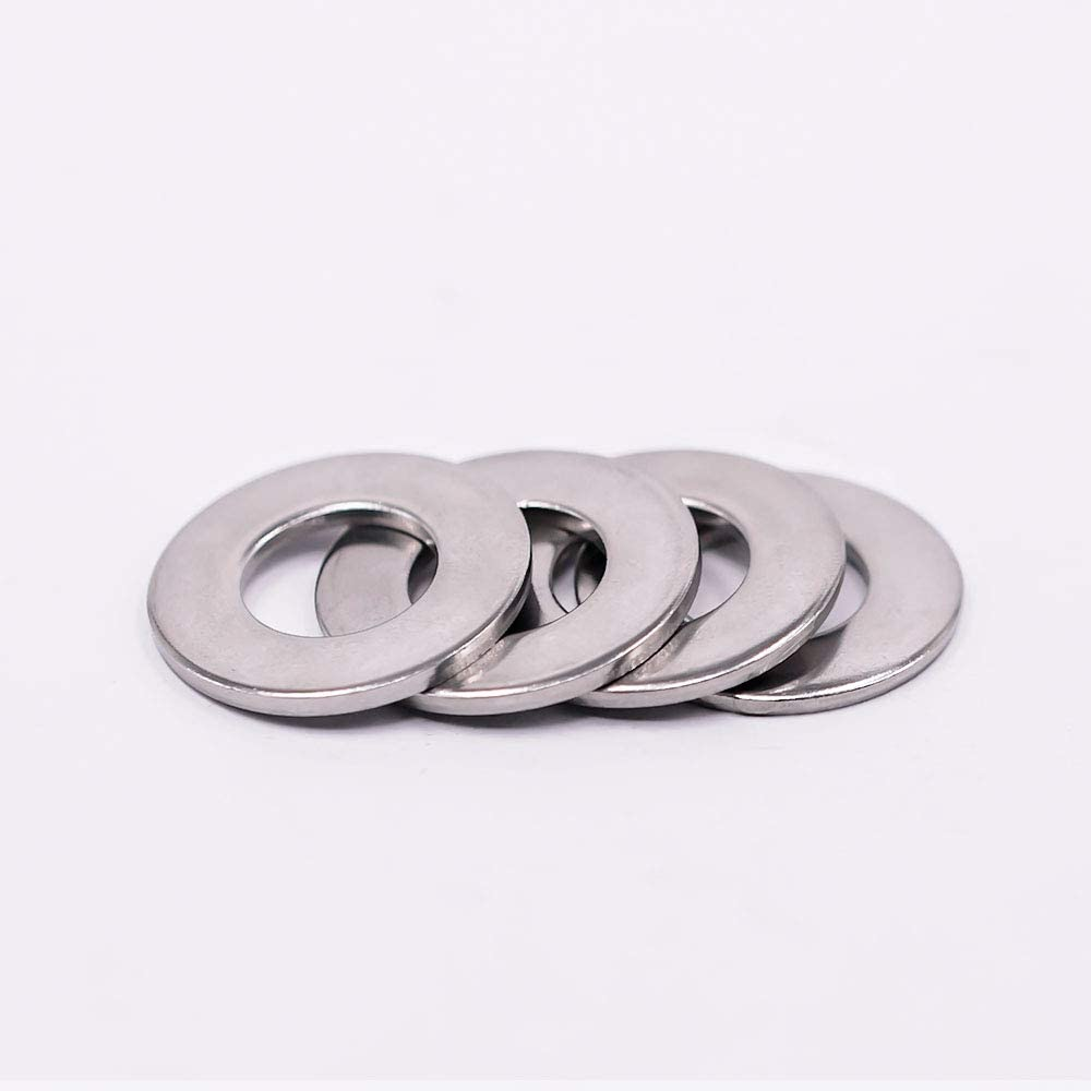 100 pcs by Eastlo Fastener 1//2 Flat Washer 304 Stainless Steel 18-8 Bright Finish 1-1//4 Outside Diameter