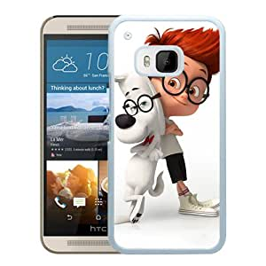 Hot Sale HTC ONE M9 Cover Case ,Mr Peabody And Sherman White HTC ONE M9 Phone Case Unique And Fashion Design