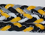 NEW! Extreme Sports 3-Pack of Tornado Necklaces (Black Yellow-Black Yellow White-Black Yellow Gray)
