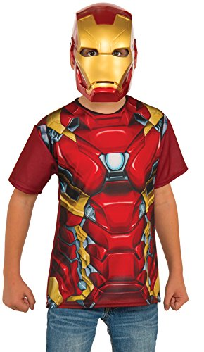 Black Widow Iron Man Costume (Rubie's Costume Captain America: Civil War Iron Man Child Top & Mask, Small)