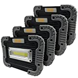 HAYLO Big Block Utility Floodlight- 500 Lumen, Portable Work/Flood Lamp (4 Pack)