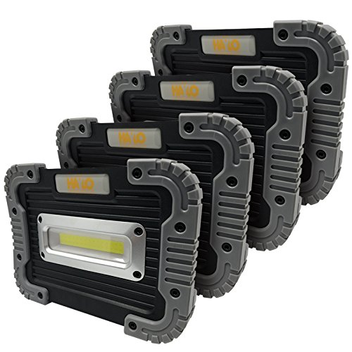 HAYLO Big Block Utility Floodlight- 500 Lumen, Portable Work/Flood Lamp (4 Pack) by HAYLO