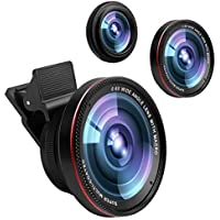 Cell Phone Camera Lens,0.6X Super Wide Angle Lens&15X...
