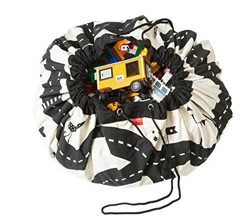 Facile à utiliser et bien fait Sac de rangement pour enfants en coton avec cordon de serrage Jeu Blanket_White Taille stretch 140x140cm Mings