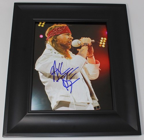 Guns N' Roses Sweet Child O' Mine Axl Rose Signed Autographed 8x10 Glossy Photo Gallery Framed Loa (Gun N Roses Sweet Child O Mine Live)