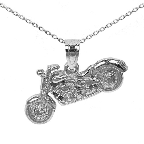925 Sterling Silver Motorcycle Pendant (16