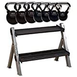 5-35 lb. Chrome Kettlebell and Rack Package