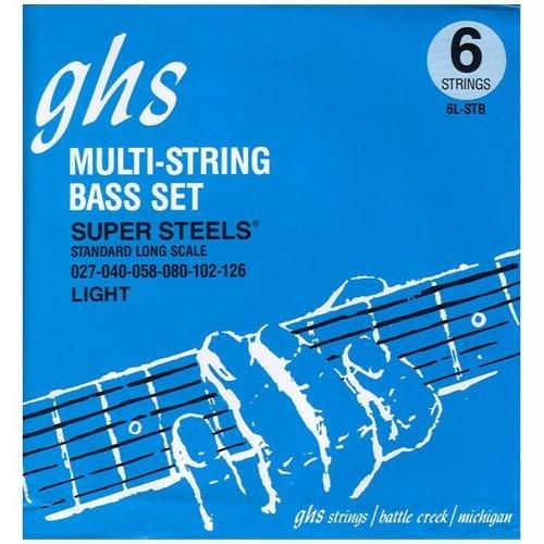 GHS 6LSTB Light Super Steels Electric Bass 6 String Set (27-126)