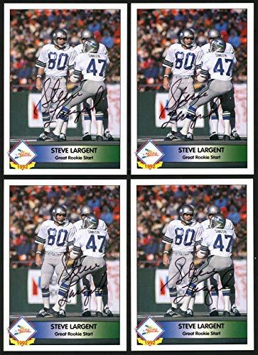 (Steve Largent Autographed 1992 Pacifc Autograph Card Seattle Seahawks #/1000 20 CT Lot SKU #147789 - NFL Autographed Football Cards)