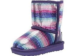 Kids Baby Girl's Classic Sequin Rainbow Boots