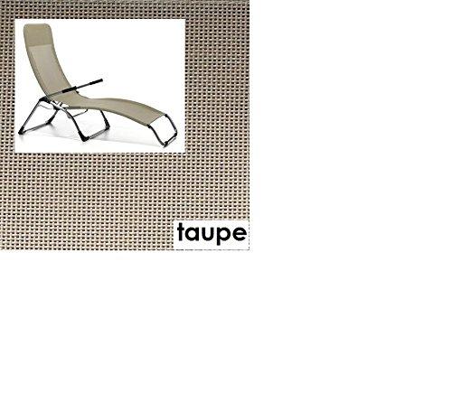 TERASSENLIEGE SAMBA - 5.4 kg - Farbe: TAUPE - JANKURTZ - OUTDOORLIEGE-. FREIZEITLIEGE - SONNENLIEGE - VERTRIEB - holly sunshade - GEGEN AUFPREIS LIEFERBAR MIT HOLLY FÄCHERSCHIRMEN - Holly® Produkte STABIELO - INNOVATIONEN MADE in GERMANY -