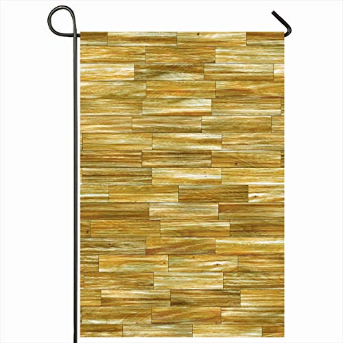 Ahawoso Garden Flag 12x18 Inches Defect Wooden Board Gaudy Wood Parquet Floors Hardwood Pattern Abstract Contrasting Detail Empty Decorative Seasonal Double Sided Home House Outdoor Yard Sign