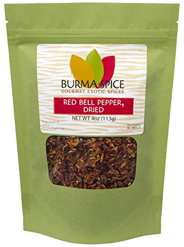 Dehydrated Sweet - Red Bell Pepper Flakes : Pure Natural Dried Seasoning Spice : Kosher Certified (4oz.)