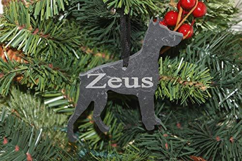 Custom Doberman Pinscher Slate Ornament - Personalized Memorial for your Pet