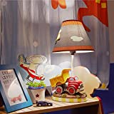 Fantasy Fields - Transportation Thematic Kids Table Lamp   Imagination Inspiring Hand Painted Details   Non-Toxic, Lead Free Water-based Paint