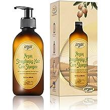 [Patrocinado] Champú de argán para fortalecer el cabello, mezcla exclusiva de aceites de hierbas, champú diario sin parabenos y sulfato marroquí de 10,1 oz para fortalecer y promover un crecimiento saludable.