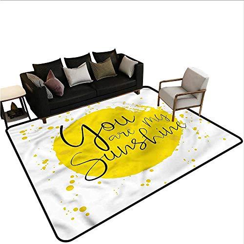 Splash Chandra (Quote,Anti-Slip Coffee Table Floor Mats 60