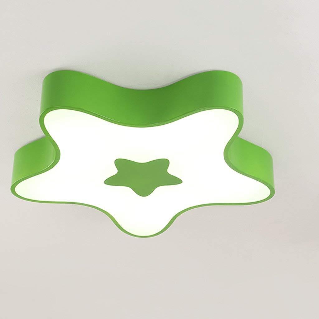 Haiyao 子供部屋天井ランプライト付き男の子d女の子の寝室かわいい保育園漫画現代クリエイティブ天井照明ランプ楽しいランプシェードダイニングルーム備品用学習室子供カラフルなデコ (Color : Green-45cm) B07SBSDCDG Green-45cm