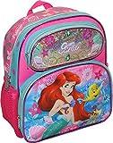 """Disney Princess Little Mermaid Ariel Girls Embossed 12.5"""" School Backpack"""