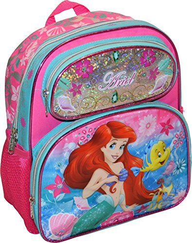 Disney Princess Little Mermaid Ariel Girl's Embossed 12.5