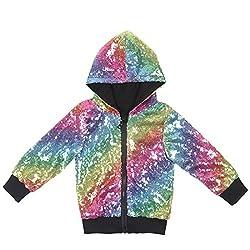Kids Sequin Zipper Jacket