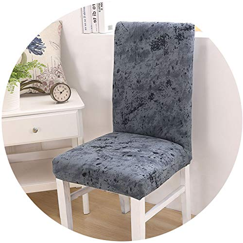 mamamoo 1/2/4/6 Pieces Elastic Stretch Dining Chair Covers Floral Printing Flexible Removable Anti-Dirty Slipcover Universal Seat Cases,Color 21,1pc Chair Cover