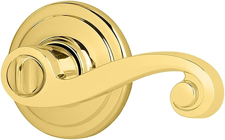 Brand New Color: Polished Brass Bed//Bath Door Lock Privacy