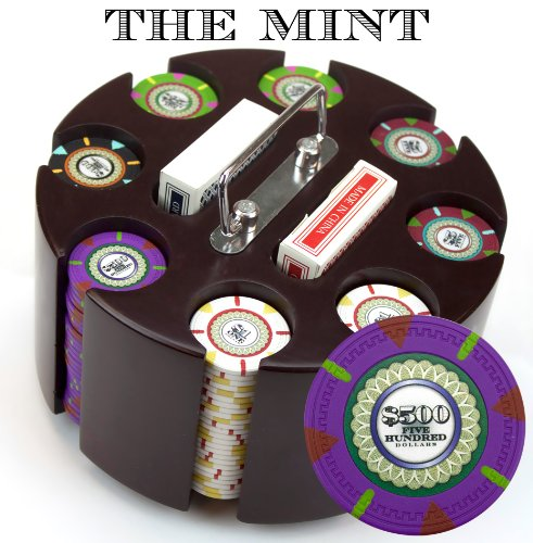 Claysmith Gaming 200-Count 'The Mint' Poker Chip Set in Carousel, 13.5gm by Claysmith Gaming
