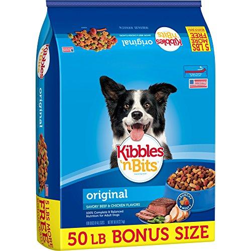 Kibbles 'n Bits Original Dry Dog Food Bonus Bag, 50 lb - Kibble Bag