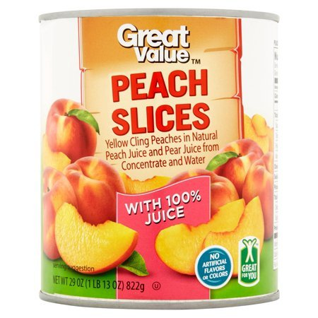 Peach Slices in Peach & Pear Juice, 29 oz, Pack of 2