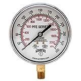 Winters PFE Series Dual Scale Sprinkler Pressure Gauge, 3-1/2