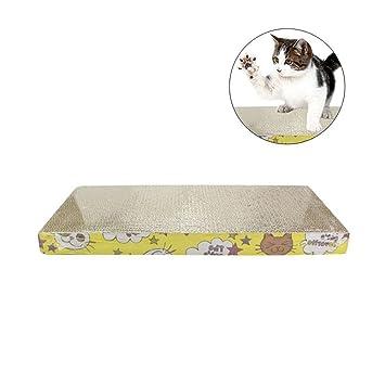Aolvo Rascador de gatos, cartón reciclable, almohadilla corrugada para rascar con gato, instinto