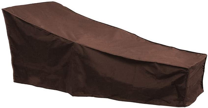 Naiveroo Chaise Lounge Cover 82-inch 210D Waterproof Patio Sun Lounge Covers for Garden Yard Outdoor Furniture Recliner Cover (Coffee)