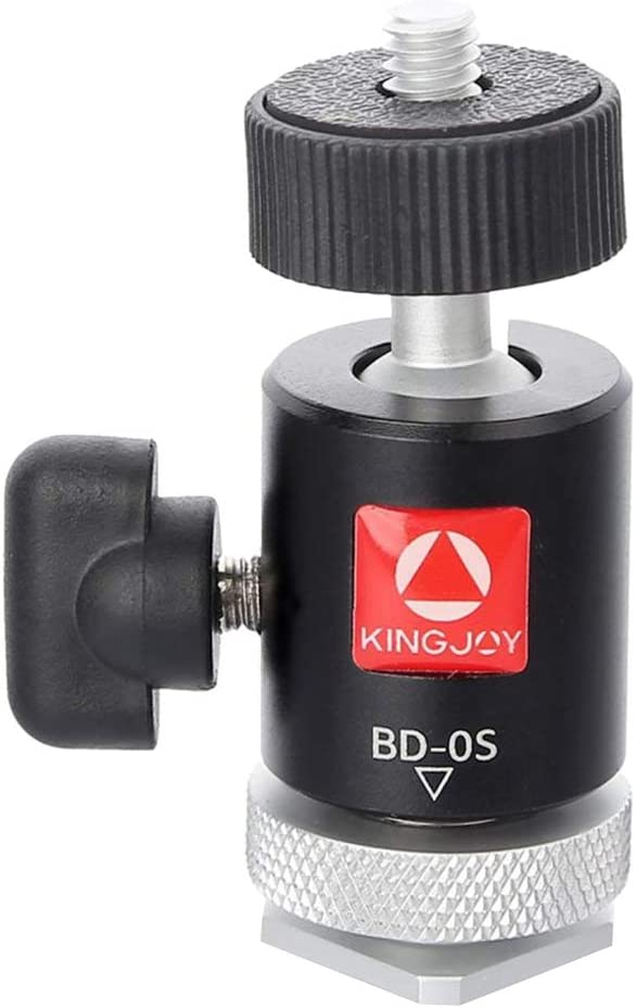 360 Panoramic Low Profile Ball Head with 1//4 Quick Release Plate Almencla Mini Ball Head for Tripod and DSLR Cameras
