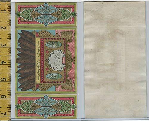 Victorian Card, 1890's, Garfield Choice Cigar Label