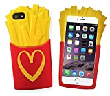 french fry phone case - iPhone 7 Plus Silicone Case,Emily Fashion Super Vivid 3D Realistic Delicious French Fries Protective Silicone Back Case Cover for iPhone 7 Plus 5.5 inch