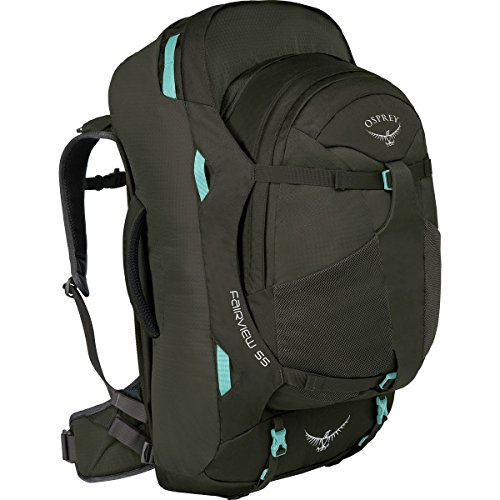 Osprey Packs Fairview 55 Travel Backpack, Misty Grey, Small/Medium - 20% Off Zip