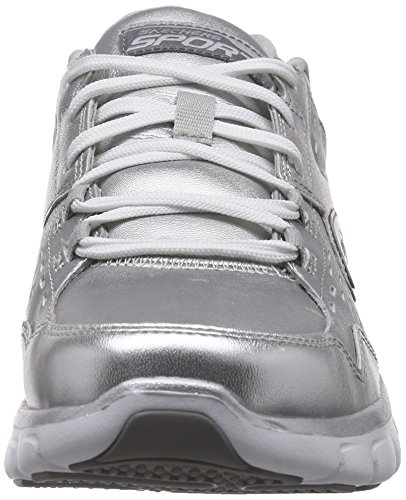 Synergy Sil Skechers Low nbsp;Masquerade Silver Women's Blk Sneakers Top z8dq8rw
